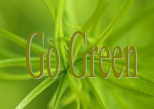 Go green, save environment