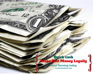 How to make money fast legally
