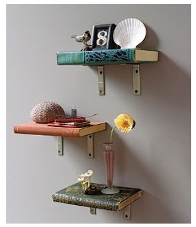 Reuse Old Books As Shelves