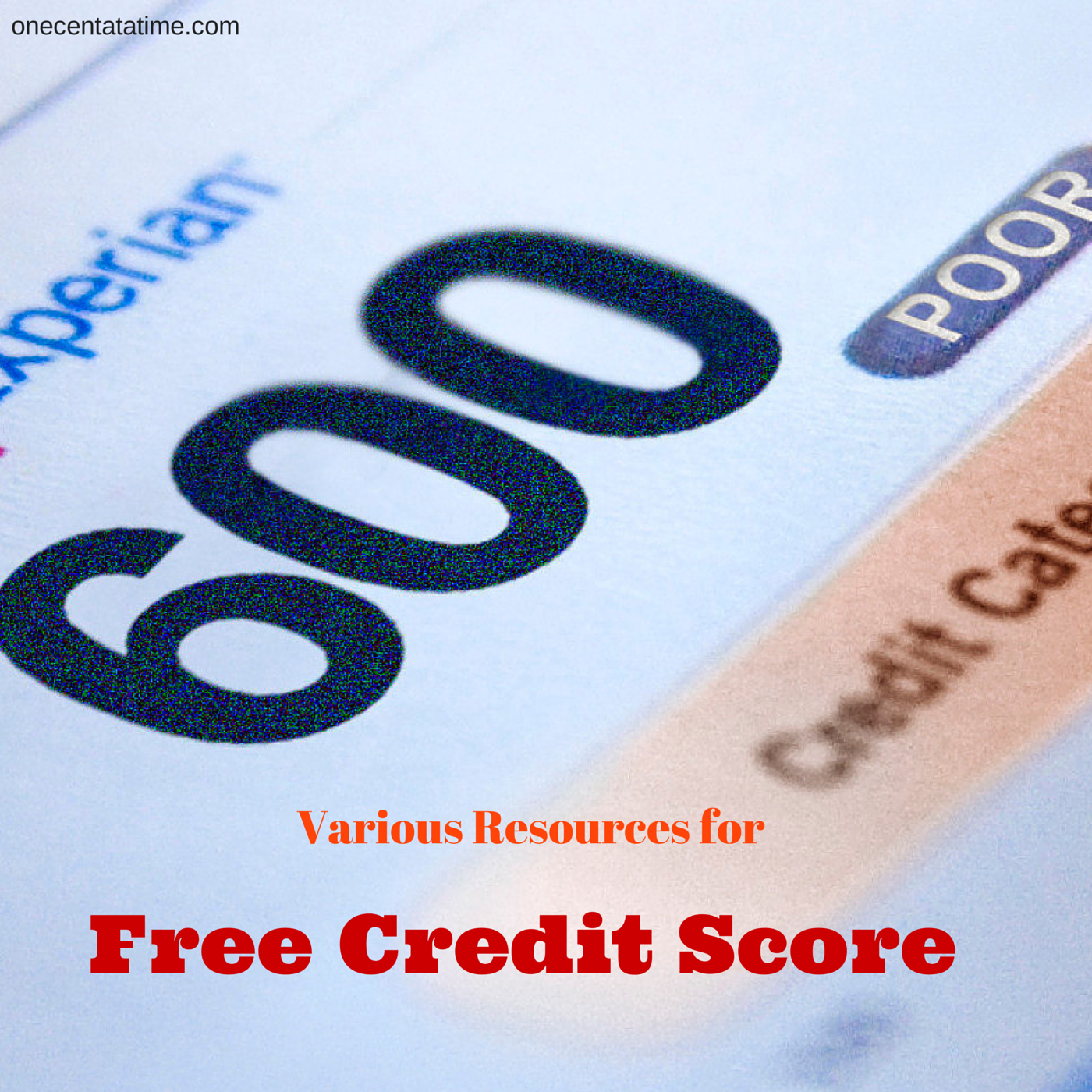 Resources for Free Credit Score
