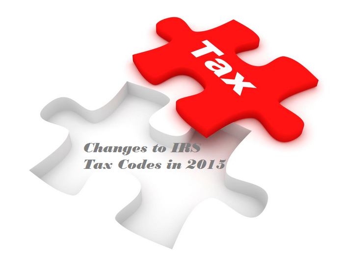 Tax codes changes in 2015