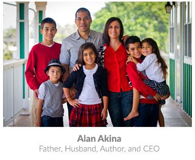 Alan's beautiful family