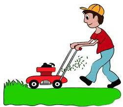Earn extra money by mowing lawns