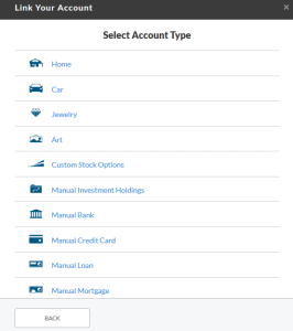 Add a manual account
