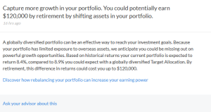 Personal Capital Advice on retirement saving performance