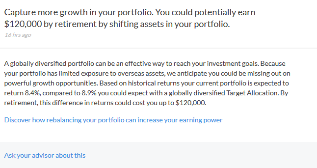 Personal Capital Advice on retirement saving performance