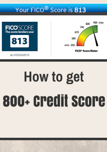 How My Credit score reached 813