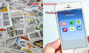 Paper coupon vs online coupons