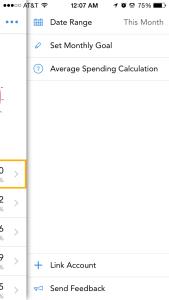 Setting Budgets step 2
