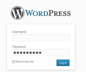 Wordpress logon