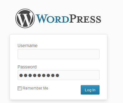 Wordpress logon