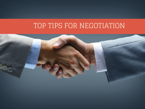Top Tips for Negotiation