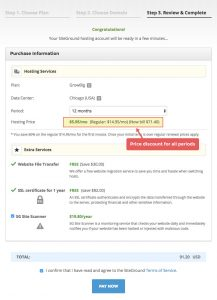 Siteground paying for hosting