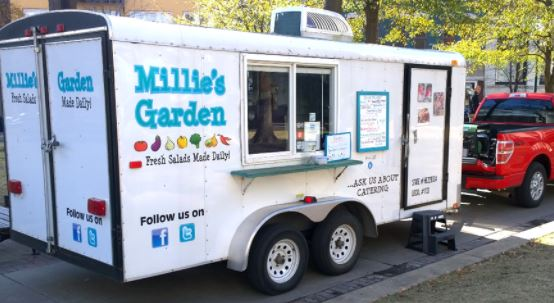 Food Truck with Social media Icons