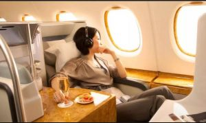 Business class travel with points