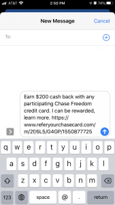Chase card referral link